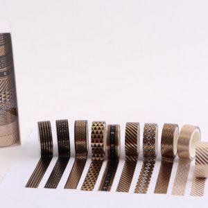10 יח וושי טייפ עיטורי זהב