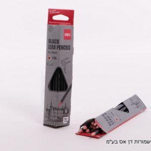 12 יח עפרונות פחם משולשים