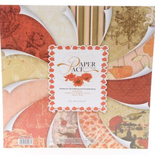 24 דפי קארדסטוק פרחים אדום חום