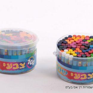 100 צבעי שמן בקופסה