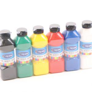 סט 6 צבעי גואש צבעוני