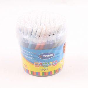 96 טושים דקים צבעוניים בדלי