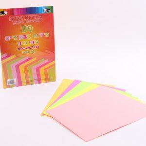 50 ניירות צבעוניים גווני נאון