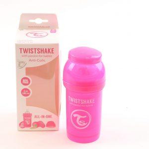 """בקבוק לתינוק טוויסט שייק 180 מ""""ל- ורוד"""