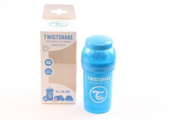 """בקבוק לתינוק טוויסט שייק 180 מ""""ל- כחול"""