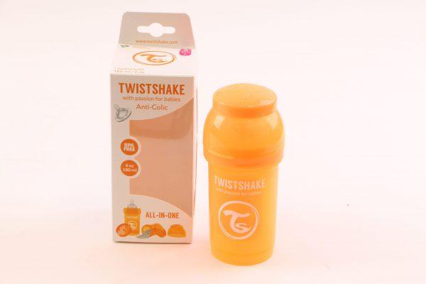 """בקבוק לתינוק טוויסט שייק 180 מ""""ל- כתום"""