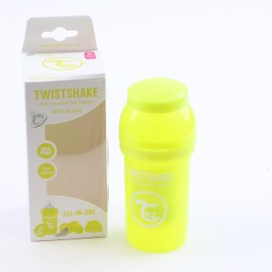 """בקבוק לתינוק טוויסט שייק 180 מ""""ל- צהוב"""