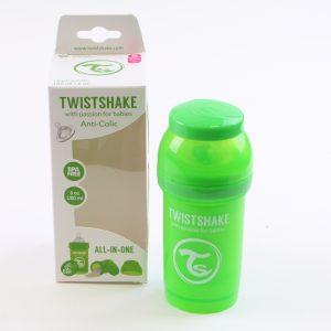 """בקבוק לתינוק טוויסט שייק 180 מ""""ל- ירוק"""