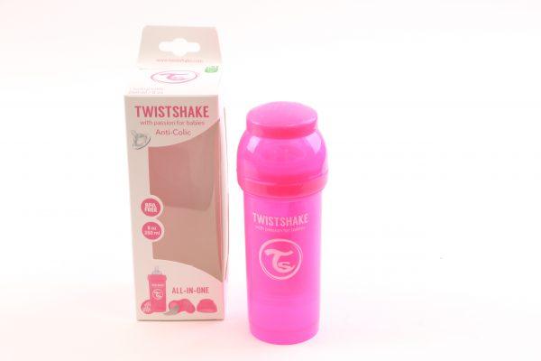 """בקבוק לתינוק טוויסט שייק 260 מ""""ל- ורוד"""