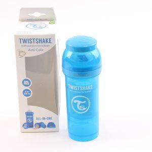 """בקבוק לתינוק טוויסט שייק 260 מ""""ל- כחול"""