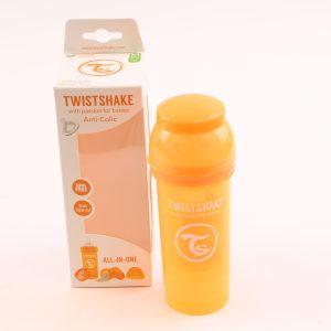 """בקבוק לתינוק טוויסט שייק 260 מ""""ל- כתום"""