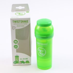 """בקבוק לתינוק טוויסט שייק 260 מ""""ל- ירוק"""