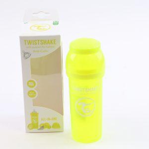 """בקבוק לתינוק טוויסט שייק 260 מ""""ל- צהוב"""