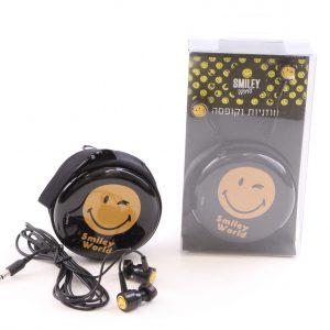 אוזניות עם קופסת נשיאה סמיילי