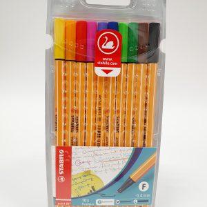 מארז עטים 0.4 צבעוני – STABILO