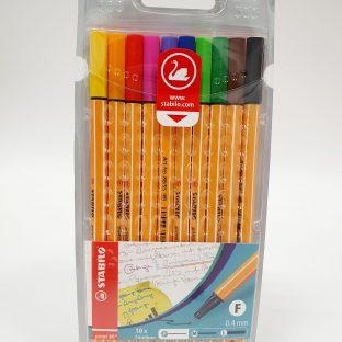 מארז עטים 0.4 צבעוני - STABILO