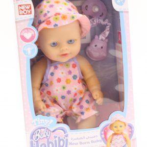בובת תינוק עם מוצץ בקופסא