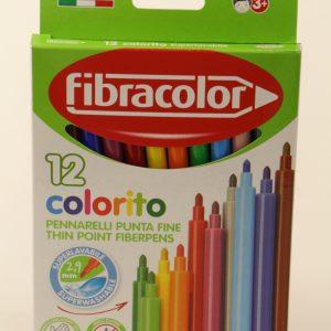 טוש 12 איכותי Fibracolor