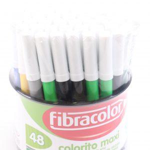 טושים סופר גמבו מקסי בדלי Fibracolor