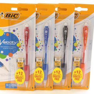 ביק ולוסיטי עפרון מכני בליסטר + עופרות 0.5