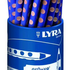 עפרון גרפיט עבה כחול LYRA GROOVE