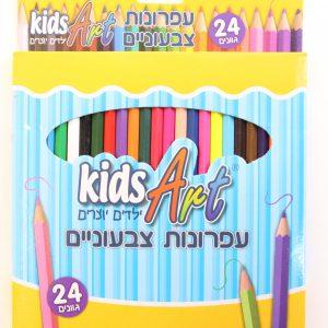 24 עפרונות צבעונים – BIC