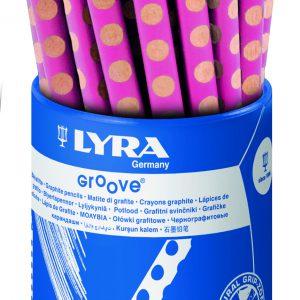 עפרון גרפיט עבה ורוד LYRA GROOVE
