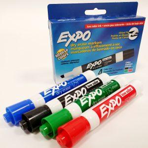אקספו סט 4 טושים מחיקים EXPO