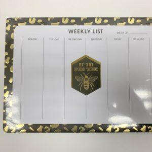 חוברת לוח תכנון שבועי זהב שחור