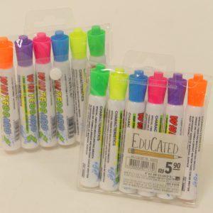 6 טושים מחיקים צבעוניים