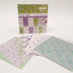 24 דפי עיצוב פרחוני סגול ירוק