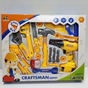 ערכת כלי עבודה כולל מברגה חשמלית