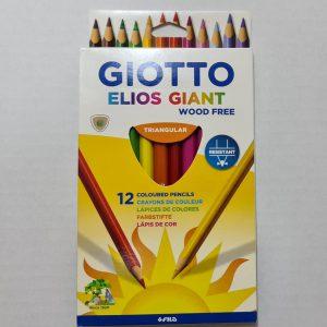 """12 עפרונות צבעוניים עבים  """"אליס"""""""