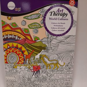 חוברת ART THERAPY – world cultures מידה A4