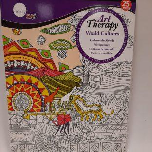 חוברת ART THERAPY - world cultures מידה A4