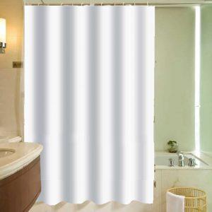 אקווילה וילון אמבט לבן