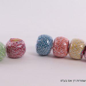 חוט כותנה 2 גוונים צבעוני
