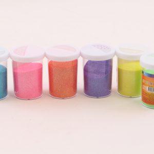 מארז 6 אבקת נצנצים ניאון במלחיות גדולות