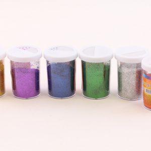 מארז 6 אבקה צבעונית במלחיות גדולות