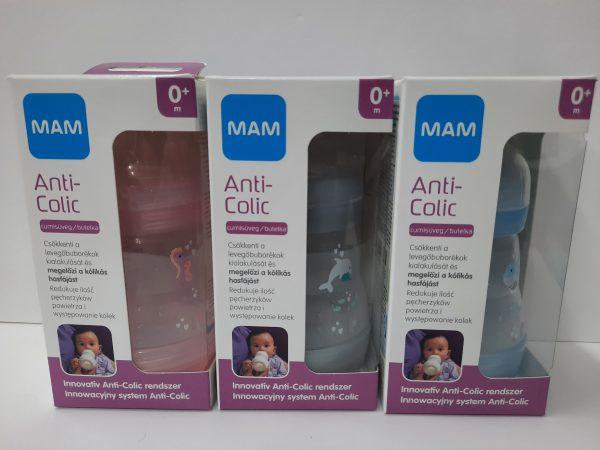 MAM בקבוק תינוק 0+ אנטי קוליק