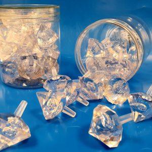 18 סביבוני יהלום בקופסא שקופה