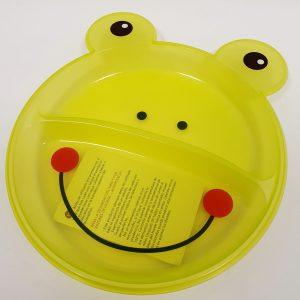 צלחת פלסטיק צפרדע