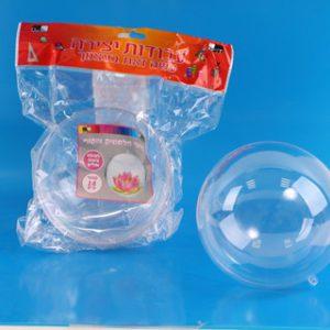כדור פלסטיק שקוף למילוי ותלייה