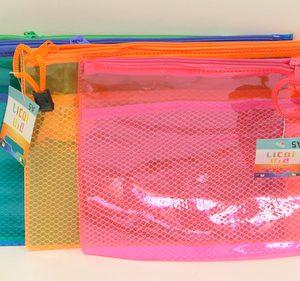 תיק רוכסן צבעוני זרחני