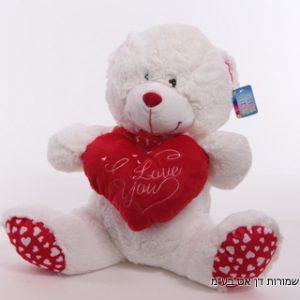 בובת דובי לב אדום