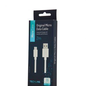 כבל טעינה 2מטר MICRO USB – סמסונג