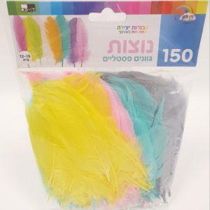 150 נוצות צבעוניות