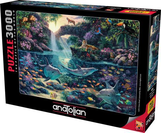 פאזל 3000 חלקים Jungle paradise