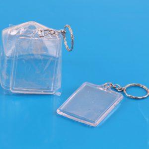 מארז מחזיקי מפתחות שקופים עם מקום לתמונה