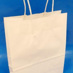 שקית נייר לבנה